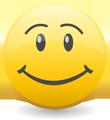 満面の笑顔